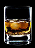 Glass of whiskey and ice — Stock Photo