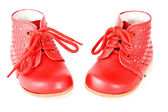 Baby's bootees — Stock Photo