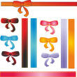 Stock Photo: 6 bows and ribbons