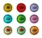 Buttons with crowns — Stock Photo
