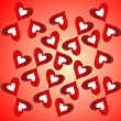 Royalty-Free Stock Photo: Hearts on a red background
