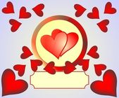 Background with red hearts — Stock Photo