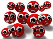 Red smileys — Stock Photo