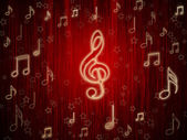 Background of musical symbols — Stock Photo