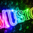 Stock Photo: Colorful word music