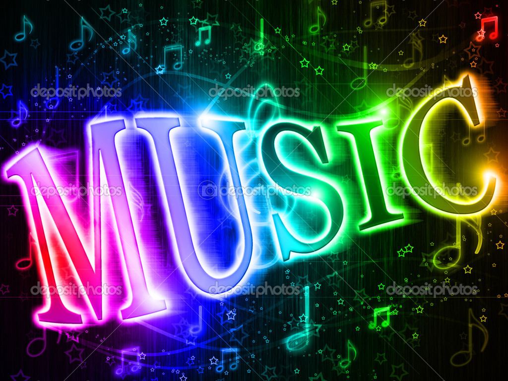 Neon Music Notes Wallpaper: Stock Photo © Lina0486 #5221819