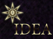 Gold inscription on the idea — Stock Photo