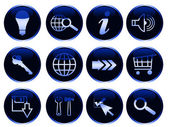 Blue buttons with icon — Stock Photo