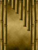 Brązowy kurtyny bambusa — Zdjęcie stockowe