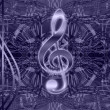 Treble clef on a background - Stock Photo