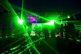 Laser show — Stock Photo