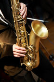 Saxophone Player — Stock Photo