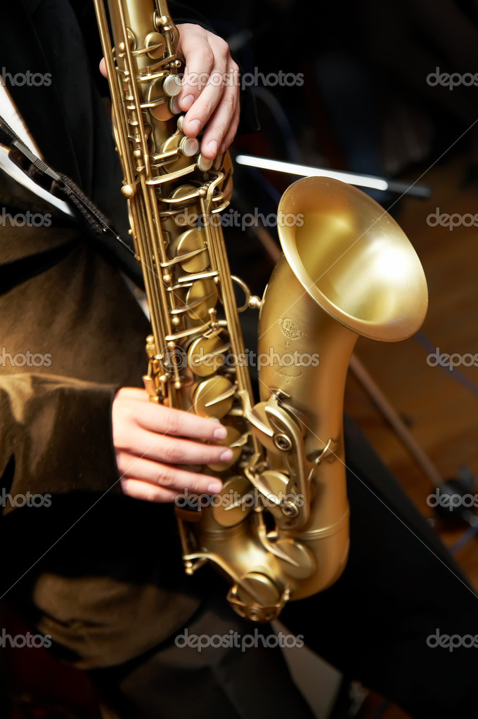 Saxophone Player — Stock Photo #4323825