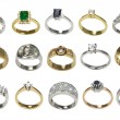 Stock Photo: Rings and jewelry