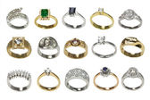 Rings and jewelry — Stock Photo