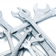A set of wrenches on white isolated background — Stock Photo