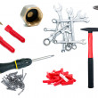 Stock Photo: Set of tools isolated on white background