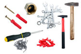 Set of tools isolated on white background — Stock Photo