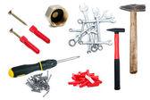 Set of tools isolated on white background — Stock Photo