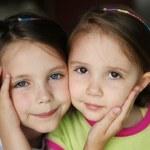 Kid sisters — Stock Photo