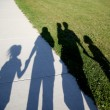 Family of shadows - Stock Photo