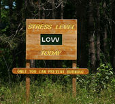 Stress Level low sign — Stock Photo
