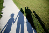 Family of shadows — Stock Photo