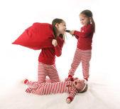 Sibling sister chaos — Stock Photo