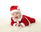 Smiling Santa Baby — Stock Photo
