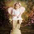 Sweet Toddler Angel — Stock Photo