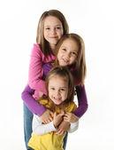 Three young sisters having fun — Stock Photo