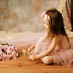Little ballerina beauty — Stock Photo