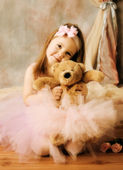 Little ballerina beauty — Stock Photo