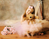 Little ballerina beauty — Foto Stock