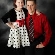 Стоковое фото: Daddy and daughter dressed up