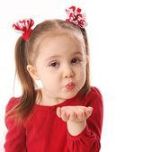 Blowing Valentine kisses — Foto Stock