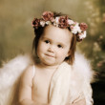 Sweet baby angel — Stock Photo