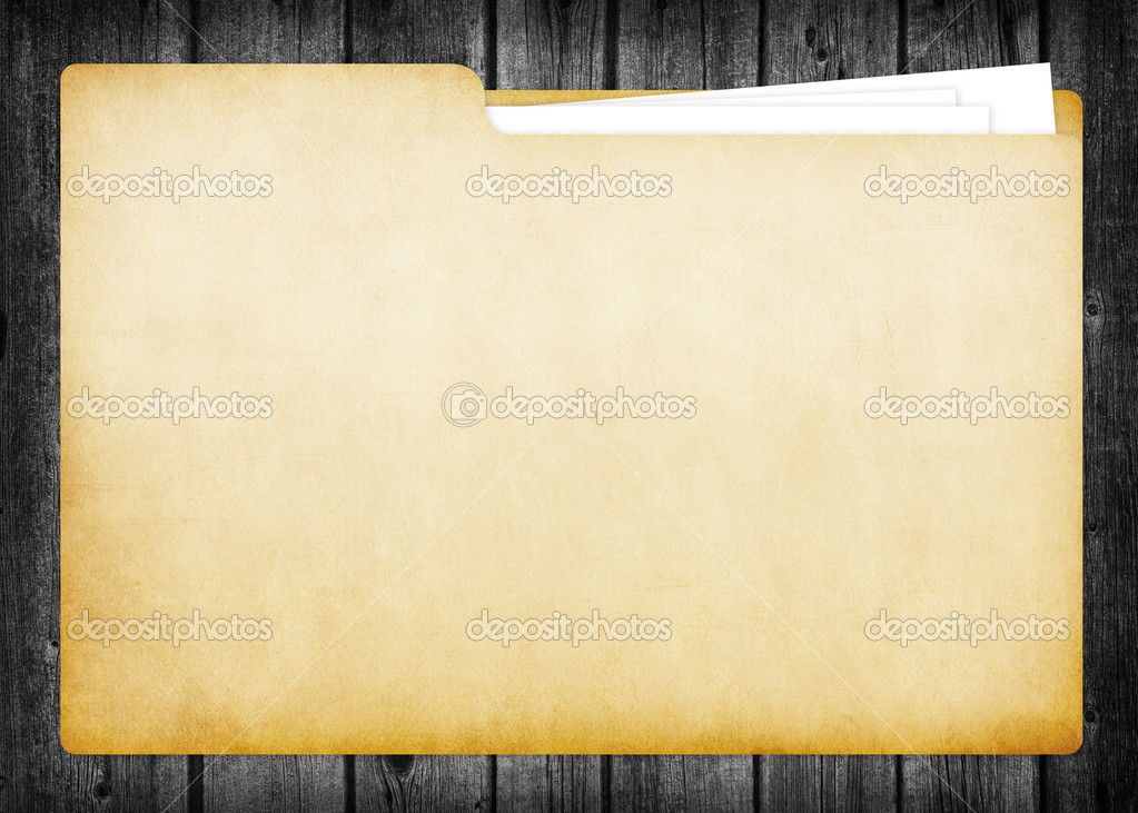 A Blank Folder containing paper documents — Stock Photo #4136741