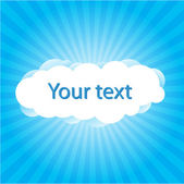 Cloudy Skies with text — Stock Vector