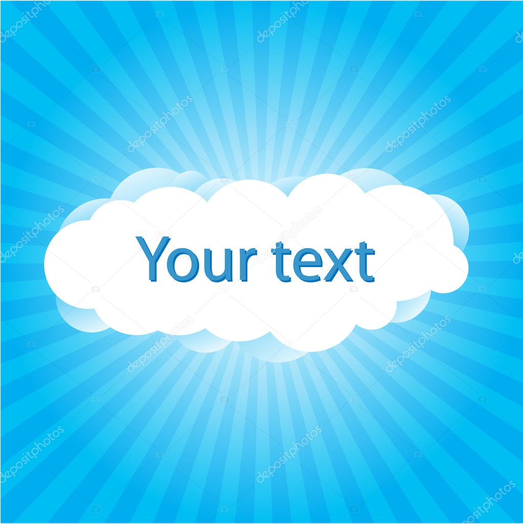 Cloudy Skies and space for your message. — Stock Vector #4261177