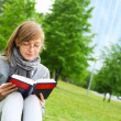The girl reads the book — Stock Photo