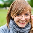The young girl in glasses — Stock Photo #4165244