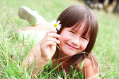 The child is smiling — Stock Photo
