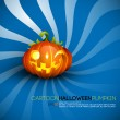 Funny Halloween Pumpkin with Big Smile - Stock Vector