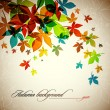 Autumn Background | Falling Leafs - Stock Vector