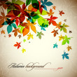 图库矢量图片: Autumn Background | Falling Leafs