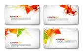 現代のビジネス カードのセット — ストックベクタ
