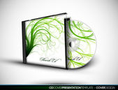 CD Flourish Cover Design with 3D Presentation Template — Stock Vector