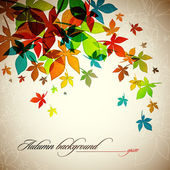 Autumn Background | Falling Leafs — Stock Vector