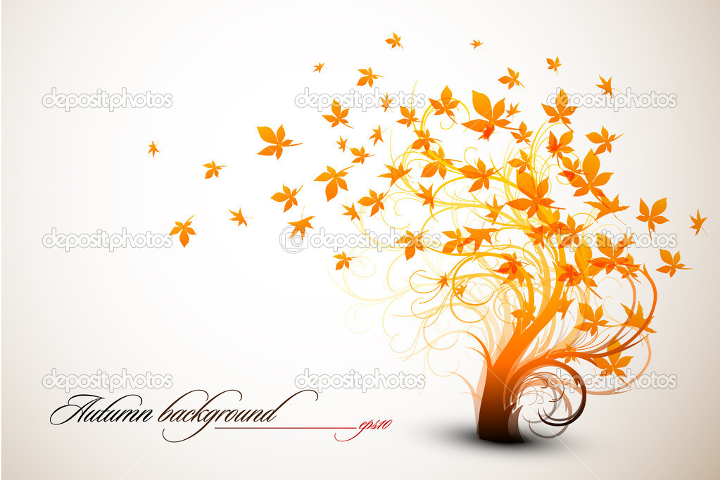 Autumn Tree | Clean Vector Composition - EPS10 Compatible — Image vectorielle #4126911